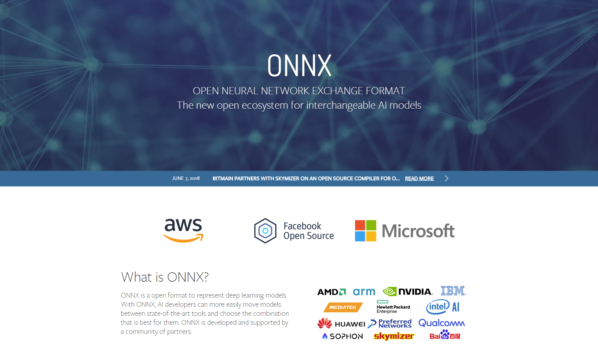 ONNX is an 'open ecosystem for interchangeable AI models