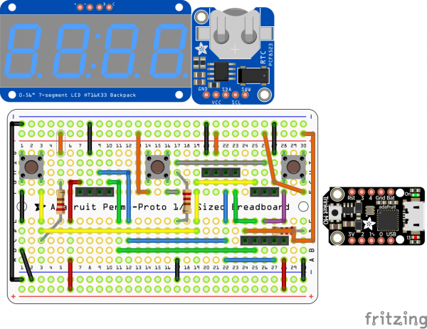 CircuitPython Clock