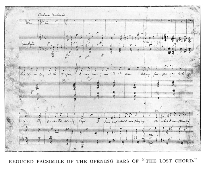 800px Lost Chord Opening from Arthur Sullivan by H Saxe Wyndham With a Chapter by Ernest Ford London George Bell and Sons 1903