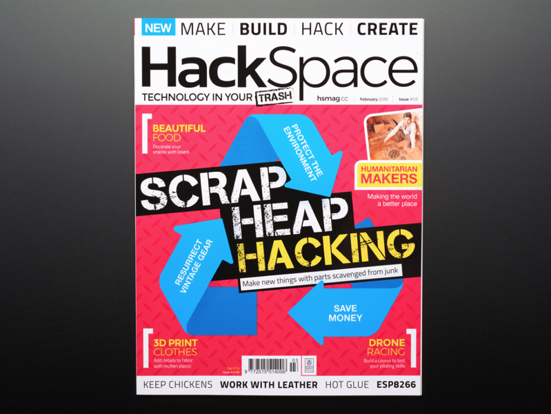 HackSpace Magazine Issue 3 February 2018 ID 3925 4 95 Adafruit Industries Unique fun DIY electronics and kits