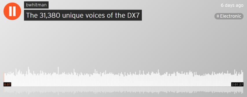 The 31,380 unique voices of the DX7