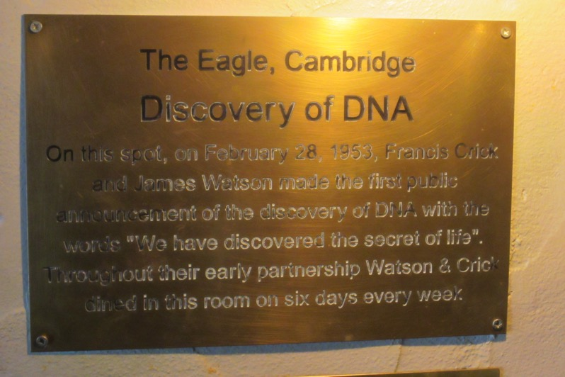 Watson and Crick plaque