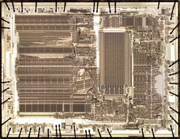 die of the 8087 chip
