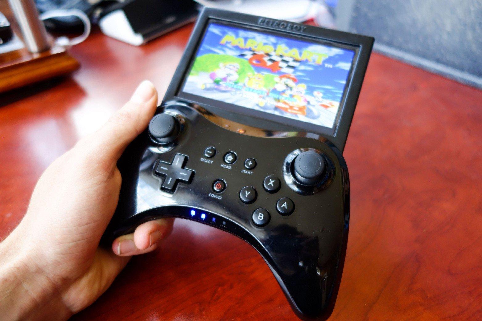 Homemade RetroPie Gaming Device Modded into Wii U Pro