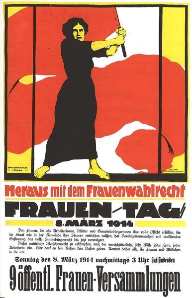 Frauentag 1914 Heraus mit dem Frauenwahlrecht