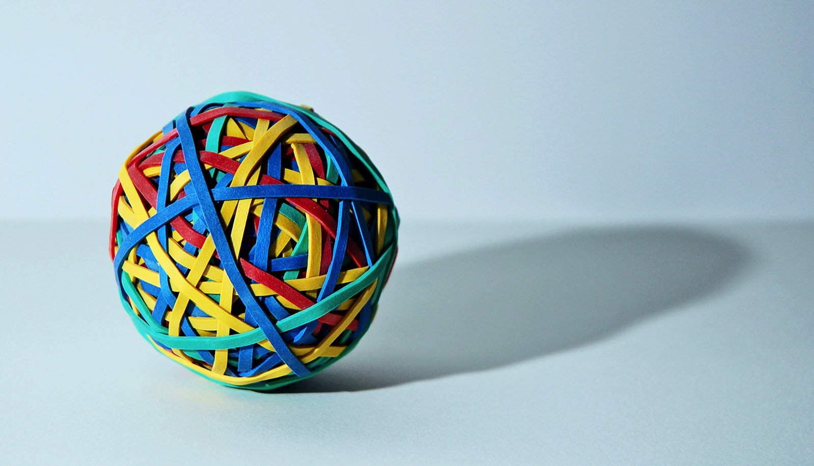 Rubber band ball on gray 1600