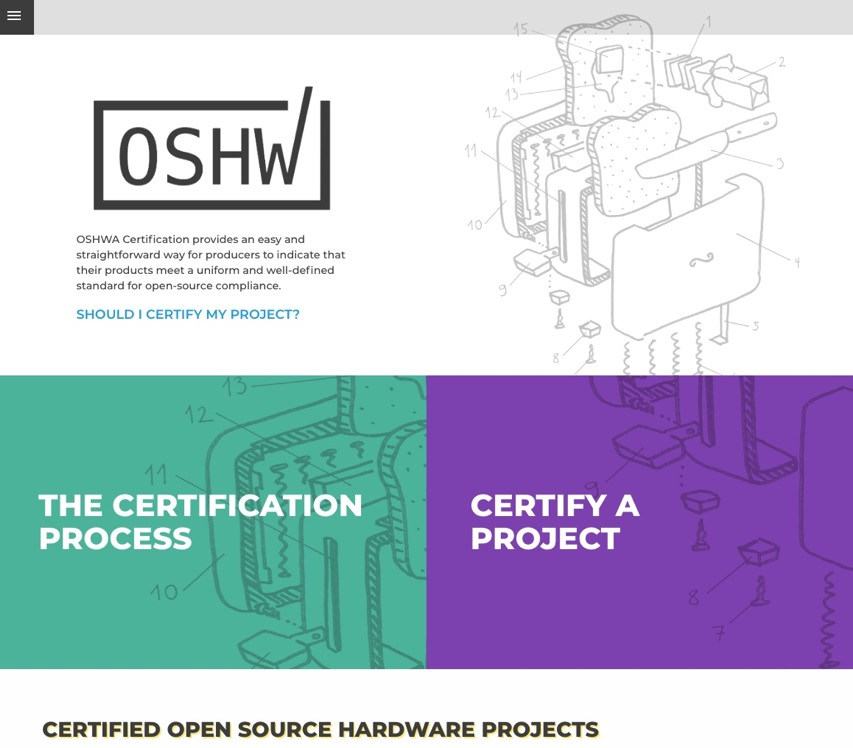 OSHWA Certification 2 0 – Open Source Hardware Association