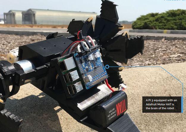 NASA FRILLER Robot Raspberry Pi, Adafruit Motor HAT