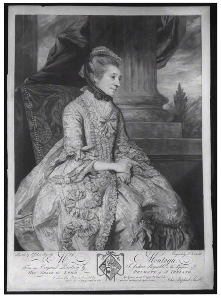 Elizabeth Montagu John Raphael Smith after Joshua Reynolds 10 April 1776 20 x 14 inches mezzotint