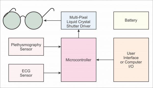 Conceptual block diagram for the EmotiGlass goggles