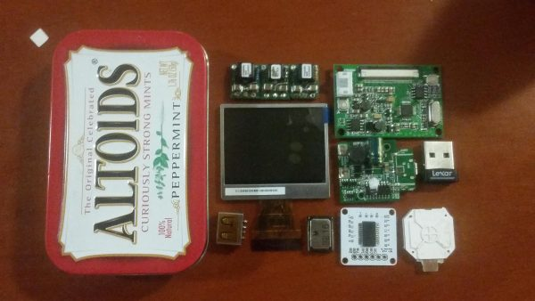 Kill Mii Complete Wii portable in an Altoids tin