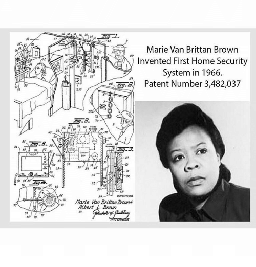 Marie van brittan brown invented first home security system in 13736875
