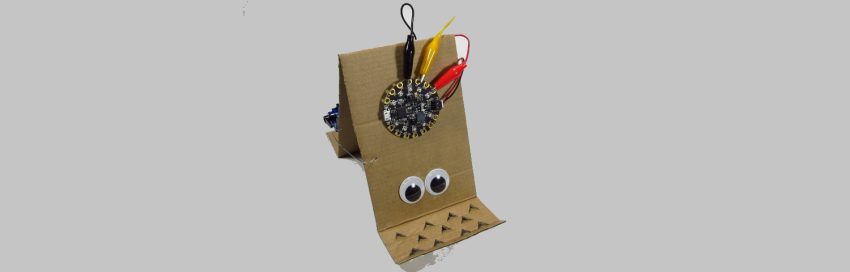 Cardboard Circuit Playground Express Inchworm Robot