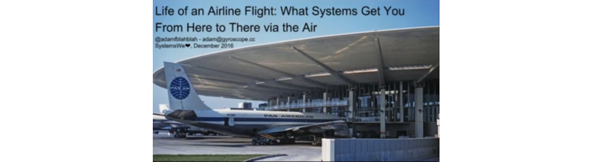 Life of an Airline Flight: What Systems Get You From Here to There via the Air Adam Fletcher