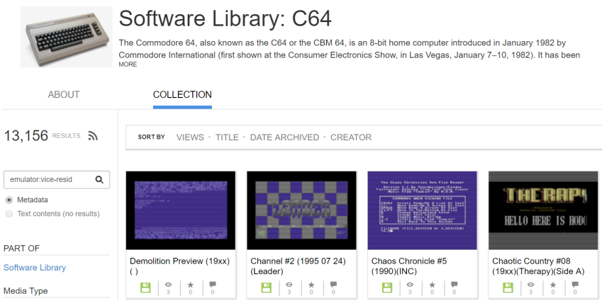Software Library: C64