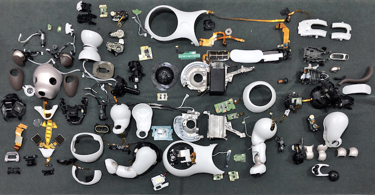 sony aibo dog  teardown