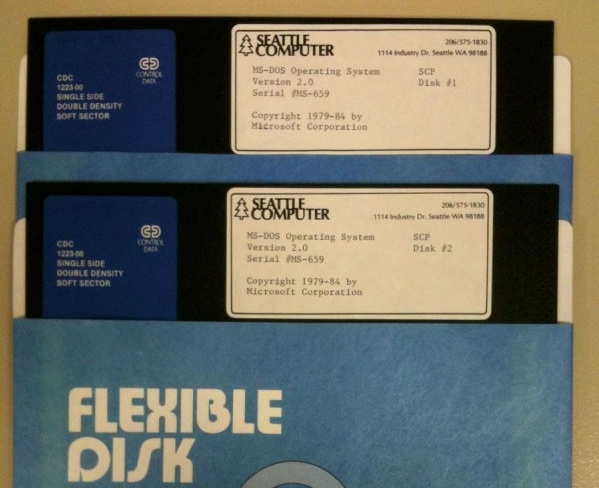 MS-DOS 2.0 on 5 1/4″ floppies