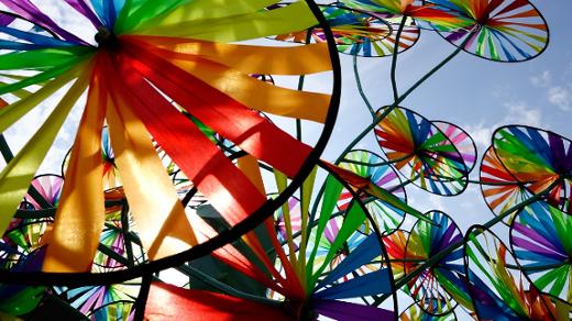 Rainbow pinwheel piwheel diversity inclusion