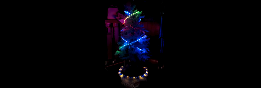 "Arduino Controlled Christmas Tree - WS2812b RGB LED (""neopixels"")"