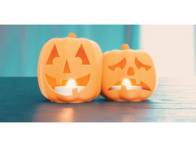 Halloween Jack O Lantern Tea Lights (ComedyTragedy