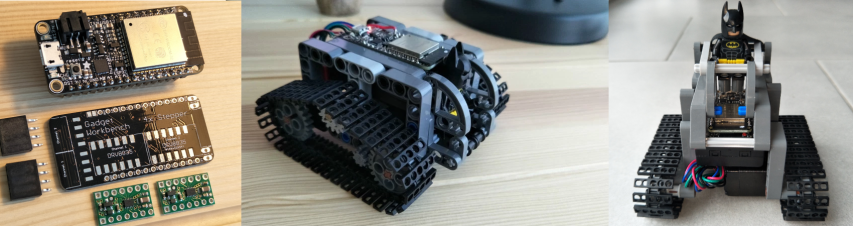 'CNC' Stepper Motor powered LEGO Technic Tank