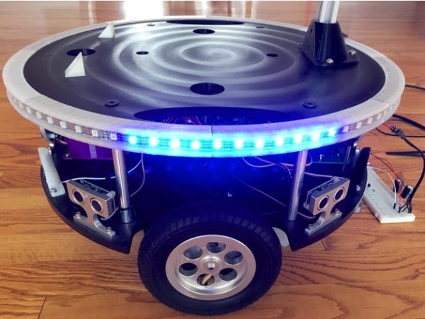 Adafruit Dotstar LED strip mount for Parallax Arlobot