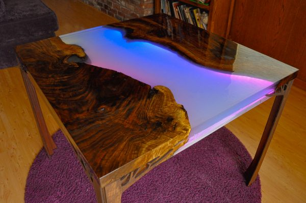 New Guide Make A Glowing Led Resin River Table Adafruit