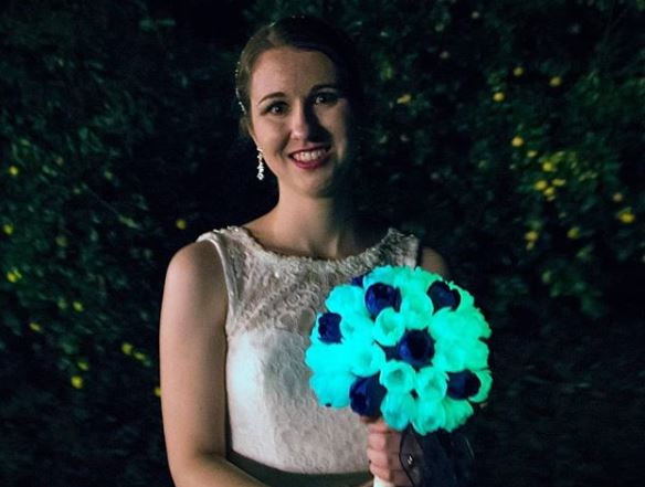 Erin Winick Wedding Bouquet Glow in the Dark