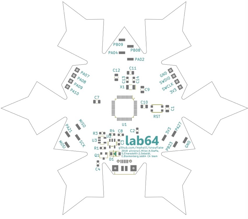 circuitpython powered snowflake boards   stanford
