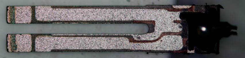 take a look at quartz - tuning fork cut at XY plane: