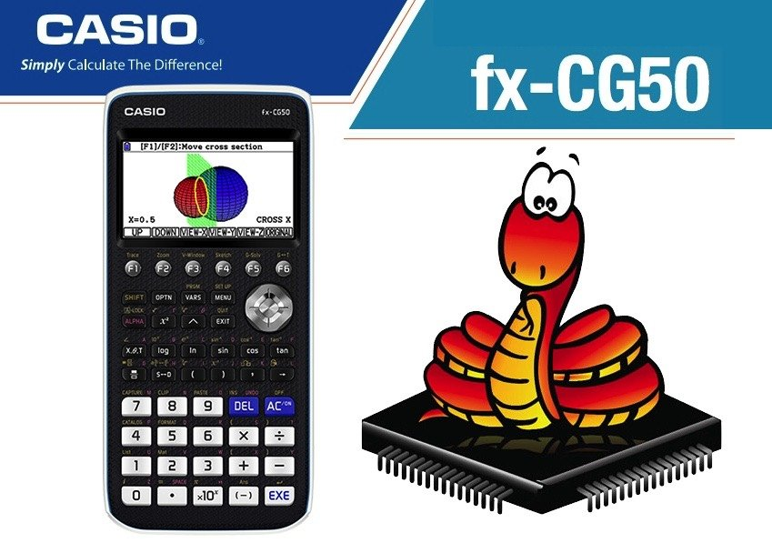 Python snakes its way to the CASIO Graphing fx-CG50 PRIZM