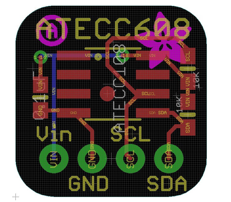 Comingsoon ATECC608A is a cryptographic co-processor breakout