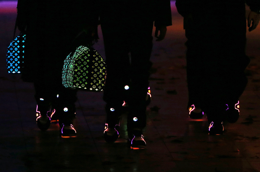 Louis Vuitton FW19 Fiber Optic Bag and Sneakers HYPEBEAST