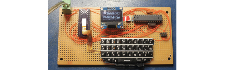 Blackberry keyboard interface arduino microcontroller