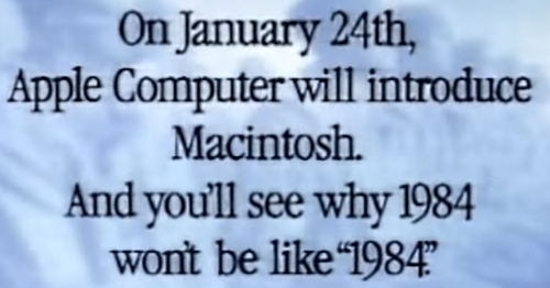 Apple 1984 ad phrase