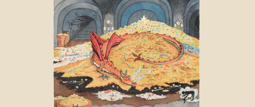 "Beloved 'Hobbit' Author J.R.R. Tolkien Was an Artist Too. Now See His Fantastical Paintings and Endearing Children's Illustrations in a New Show ""Tolkien: Maker of Middle-earth"" is on view now at the Morgan Library & Museum."