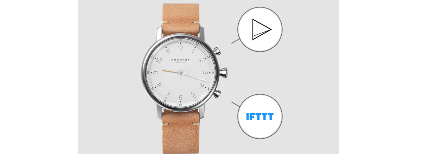 How to control a device with a Kronaby smart watch