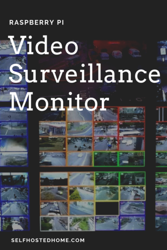 Raspberry pi video surveillance monitor 1