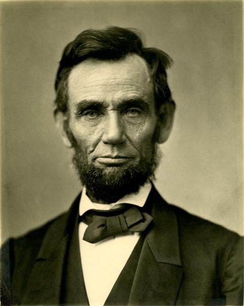 Abraham Lincoln O 77 matte collodion print