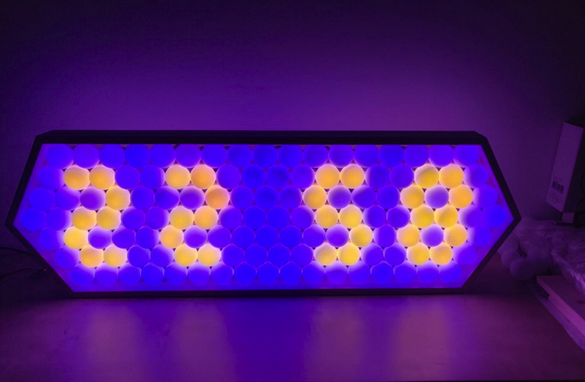 Iridescent LED Clock Made with Ping Pong Balls Hackster Blog