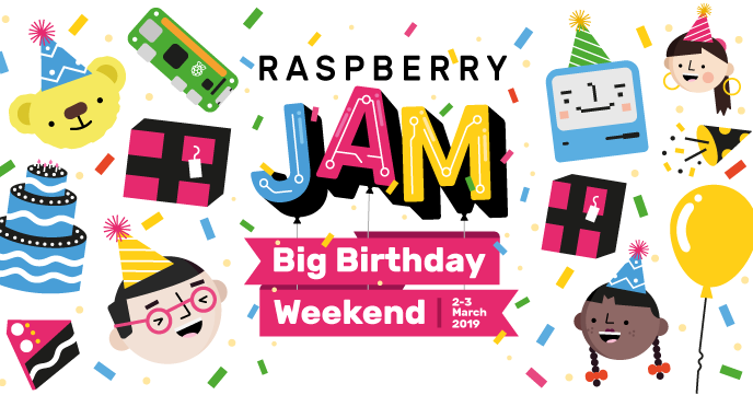 Raspberry Jam Birthday Weekend 2019 Banner