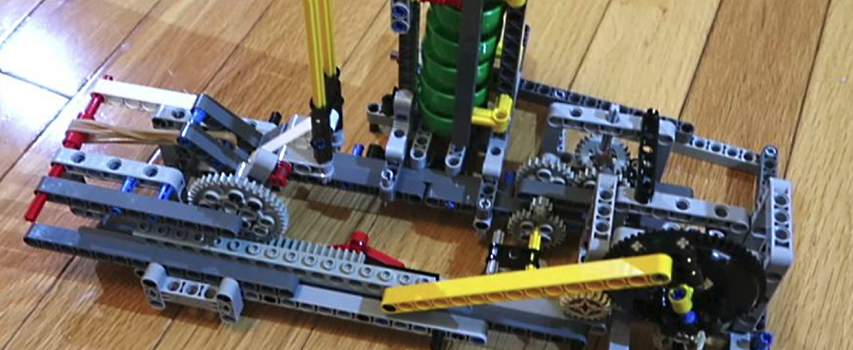 Building the lego machine-catapult