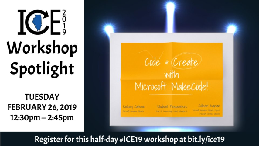 """Code & Create with Microsoft MakeCode!"""