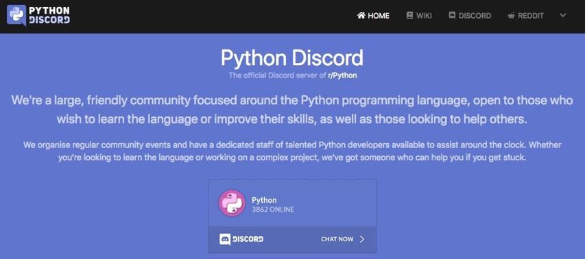 Python Discord server and Adafruit! @discordapp @reddit