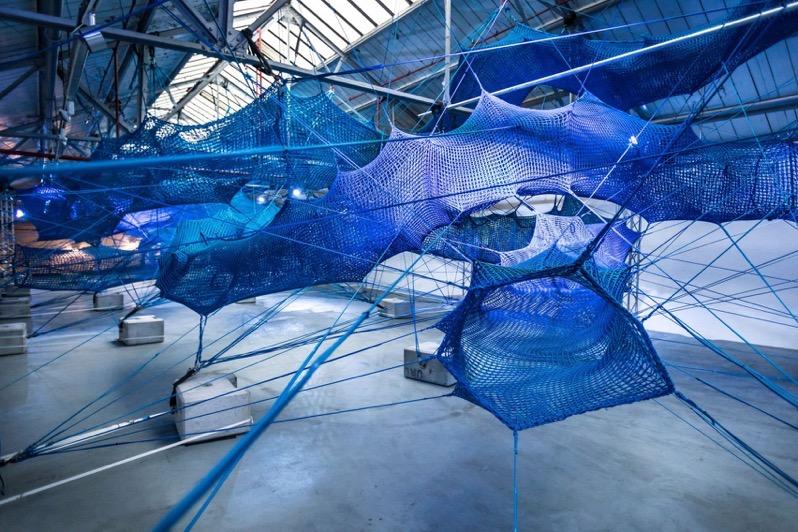 Anya hindmarch weave installation design dezeen 2364 col 1 1704x1136