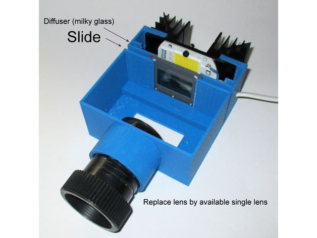 3D Printed Slide Projector #3DThursday #3DPrinting