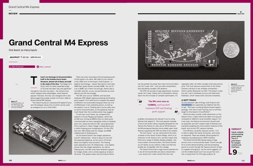 Issue 16 — HackSpace magazine – Adafruit Grand Central M4