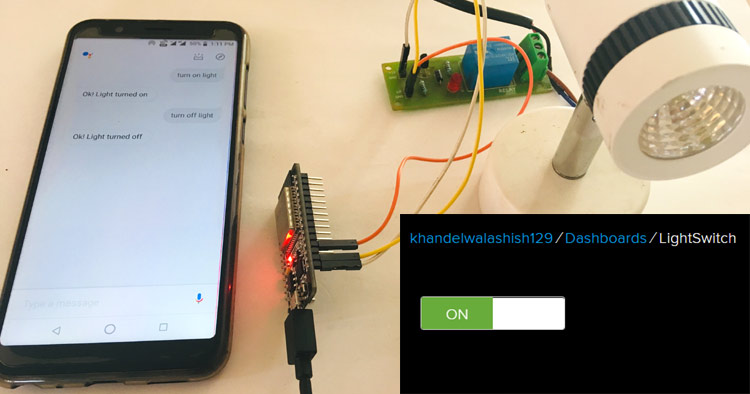 Google Assistant Based Home Appliance Control using ESP32 and