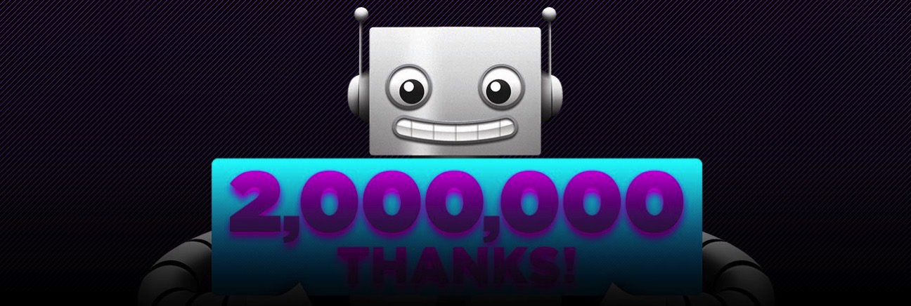 Adafruit 2million thanks blog