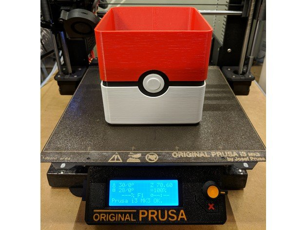Poké Ball Planter (+MultiMaterial) #3DPRINTING #3DTHURSDAY